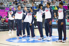 Equipe dos EUA do basquetebol imagens de stock