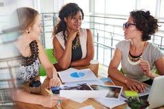 Equipe dos executivos bem sucedidos que têm uma reunião no escritório ensolarado executivo Imagens de Stock Royalty Free