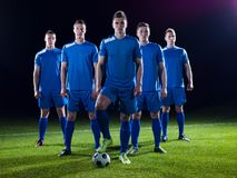 Equipe dos jogadores de futebol Fotografia de Stock Royalty Free