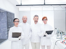 Equipe dos pesquisadores em um laboratório de química Foto de Stock