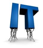 Equipe dos povos que levantam A (tecnologia da informação) Imagem de Stock
