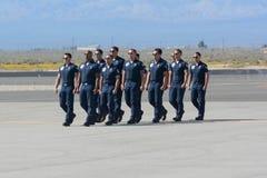 Equipe dos Thunderbirds da força aérea de Estados Unidos Foto de Stock Royalty Free