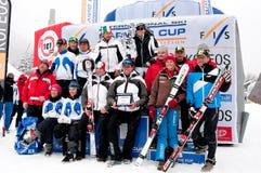 Equipe e atletas, velocidade cinzelando o desafio do mundo Foto de Stock