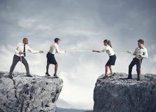 Equipe e competição do negócio Fotografia de Stock