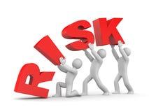 Equipe e risco Imagens de Stock