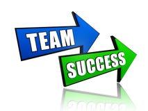 Equipe e sucesso nas setas Fotos de Stock Royalty Free