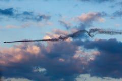 Equipe el bravo 3 Aviones: 2 x Sukhoi los 26M Imagen de archivo libre de regalías
