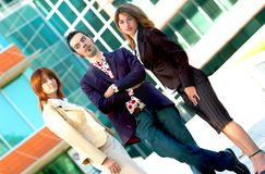 Equipe elegante do negócio   fotografia de stock