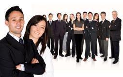Equipe enorme principal do negócio dos sócios comerciais Fotografia de Stock