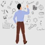 Equipe a escrita Ilustração do Vetor