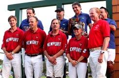 Equipe EUA e polo de Brasil da equipe Imagem de Stock Royalty Free