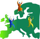 Equipe européia Fotografia de Stock Royalty Free