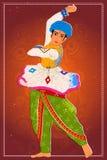 Equipe a execução da dança popular de Garba de Gujarat, Índia Fotos de Stock