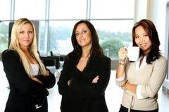 Equipe fêmea, no escritório imagens de stock