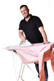 Equipe fazer o housework Imagens de Stock Royalty Free