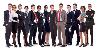 Equipe feliz bem sucedida do negócio Foto de Stock Royalty Free