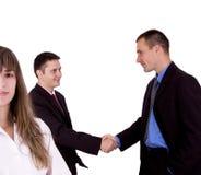 Equipe feliz do negócio Imagens de Stock