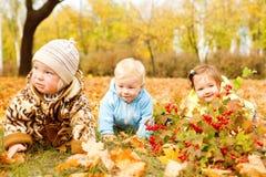 Equipe feliz dos bebês imagem de stock royalty free