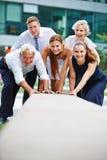 Equipe forte do negócio que faz a cooperação Imagens de Stock Royalty Free