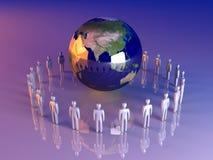 Equipe global - Ásia Imagem de Stock
