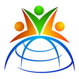 Equipe global Imagem de Stock