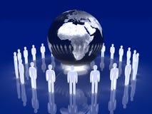 Equipe global de incandescência - Europa, África Imagens de Stock