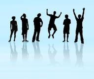 Equipe - grupo de 6 povos Foto de Stock