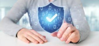 Equipe guardar uma rendição do conceito 3d da segurança da Web do protetor Fotografia de Stock Royalty Free