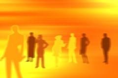 Equipe ideal do fundo dos povos Imagens de Stock Royalty Free