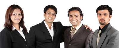 Equipe indiana nova do negócio Fotografia de Stock