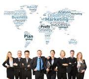 Equipe internacional do negócio com advogados fotos de stock royalty free