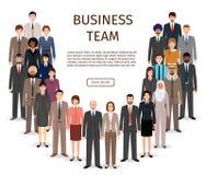 Equipe internacional do negócio Grupo de povos do empregado de escritório que estão junto Foto de Stock Royalty Free