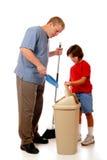 Equipe limpa doméstica fotografia de stock royalty free