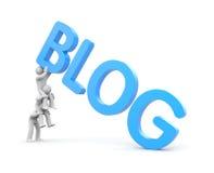 A equipe mantém um blogue ilustração royalty free