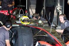 Equipe McLaren F1, Lewis Hamilton, 2006 Imagem de Stock