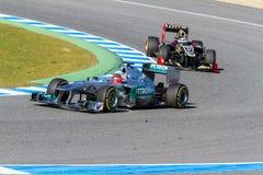 Equipe Mercedes F1, Michael Schumacher, 2012 Foto de Stock Royalty Free