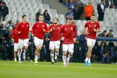 Equipe mistrza Manchester United liga FC Bruges, Manchester United - Zdjęcia Stock