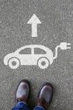 Equipe a mobilidade amigável do eco do tráfego de veículo do carro bonde dos povos imagem de stock royalty free
