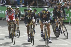 Equipe MTN QHUBEKA环法自行车赛2015年 免版税图库摄影