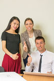 Equipe multicultural no escritório Fotografia de Stock Royalty Free