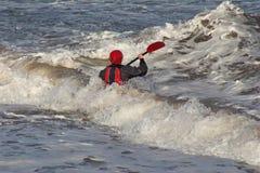 Equipe na canoa 2 Imagem de Stock