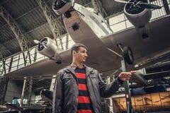 Equipe na exposição dos aviões Fotos de Stock Royalty Free