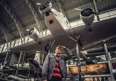Equipe na exposição dos aviões Fotos de Stock