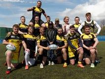 Equipe Narvskaya Zastava do rugby de St Petersburg, Rússia fotos de stock royalty free