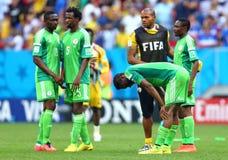Equipe Nigeria Coupe du monde 2014 Stock Photo