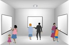 Equipe nova em uma sala de apresentação. Vetor ilustração do vetor