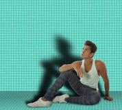 Equipe o assento em uma sala na terra Fotografia de Stock