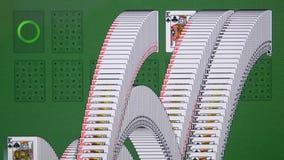 Equipe o jogo do solitário do jogo de computador no close-up do computador do monitor filme