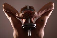 Equipe o treinamento com peso Foto de Stock Royalty Free