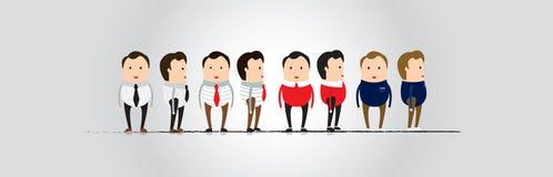 Equipe a opinião dianteira de projeto de caráter e a vista lateral imagem de stock